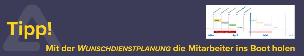 Den Dienstplan im Team erstellen